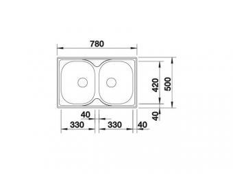 Blanco Tipo 8 Compact mosogatótál - natúr
