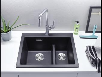 Blanco Pleon 6 Split gránit mosogatótál - fekete