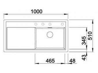 Blanco Zenar XL 6S gránit mosogatótál