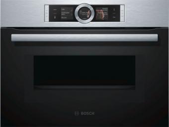 Bosch CMG656BS1 kompakt sütő mikrohullámmal