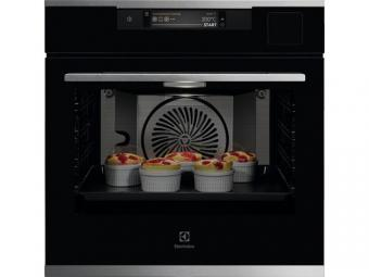 Electrolux KOAAS31CX SteamPro beépíthető gőzsütő, Sous Vide, kamera, WIFI, TFT érintőkijelző, Assisted Cooking, maghőmérő