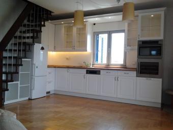 Festett konyhabútor - selyem fehér