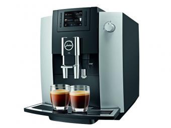 Jura E6 Platin Automata kávéfőző  15bar Fekete-Ezüst