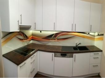 Lack-laminált konyhabútor - matt fehér