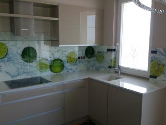 Üveg konyhabútor - kasmír